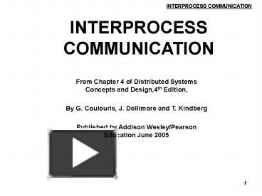 Ppt Interprocess Communication Powerpoint Presentation Free To Download Id 1005ff Zdc1z