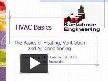 Ppt Hvac Basics Powerpoint Presentation Free To View Id