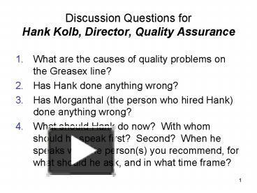 hank kolb case study
