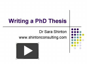 Powerpoint Presentation of PhD Viva - SlideShare
