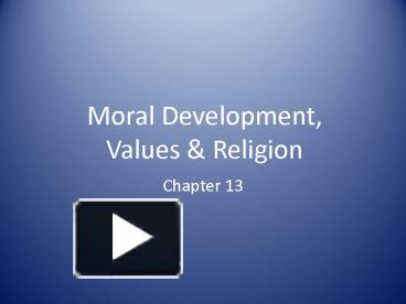 decline of moral values in youth