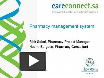 PPT – Pharmacy management system PowerPoint presentation