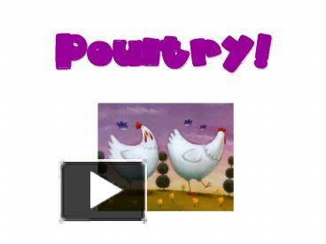 PPT – Poultry PowerPoint presentation | free to view - id: 108ef-YzUwM