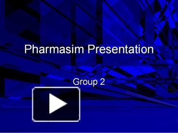 pharmasim period 0 decisions (solution) summary of the decisions person1 –pink person2- blue person3 – red person4 -green period 0 – stock price (3835) incident (social media) launched a twitter and facebook account both accounts provided feedback about the product salesforce increased salesforce summary of the decisions person1.