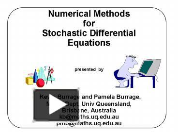 PPT – Numerical Methods for Stochastic Differential