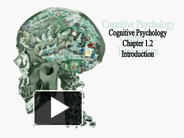 cognitive psychology chapter 4