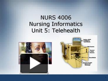 Ppt Nurs 4006 Nursing Informatics Unit 5 Telehealth