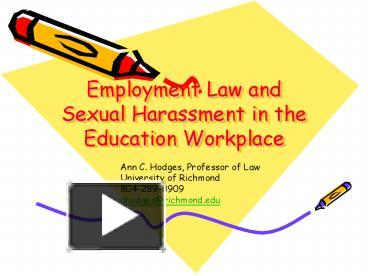 employment law sexual harassment