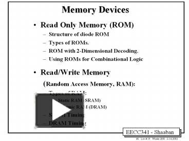 PPT – Read Only Memory ROM PowerPoint presentation | free to