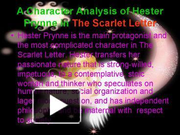 describe hester prynne