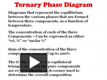 PPT – Ternary Phase Diagram PowerPoint presentation | free