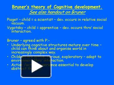 jerome bruner social interaction theory
