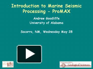 ppt introduction to marine seismic processing promax powerpoint rh powershow com