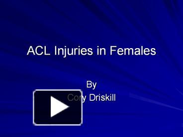 research paper on acl tears Although research on the psychological impact of injury is although research on the psychological impact of anterior cruciate ligament tears on the.