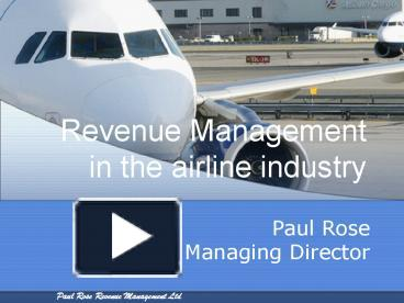 Ppt revenue management in the airline industry powerpoint ppt revenue management in the airline industry powerpoint presentation free to download id 12959e mgq0y toneelgroepblik Gallery
