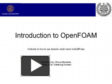 PPT – Introduction to OpenFOAM PowerPoint presentation | free to