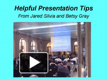 helpful tips for powerpoint presentations
