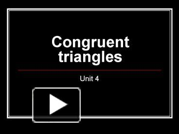 ppt congruent triangles powerpoint presentation free to view