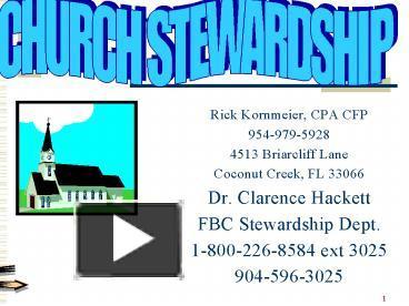 PPT – STEWARDSHIP PowerPoint presentation | free to ... |Stewardship Powerpoint