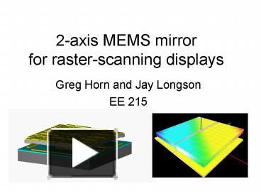 PPT – 2axis MEMS mirror for rasterscanning displays PowerPoint