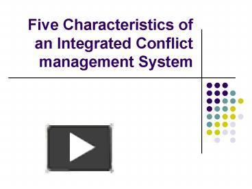 characteristics of conflict