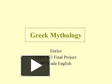 impact greek mythology in western culture