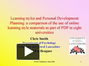 learning and personal development plan