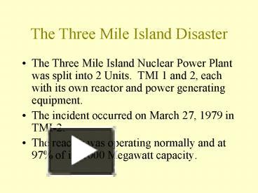 Ppt the three mile island disaster powerpoint presentation free ppt the three mile island disaster powerpoint presentation free to view id 141840 mdgzo ccuart Choice Image