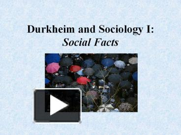 durkheim social facts examples