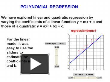 PPT – POLYNOMIAL REGRESSION PowerPoint presentation   free