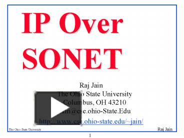 PPT – IP Over SONET PowerPoint presentation | free to download - id