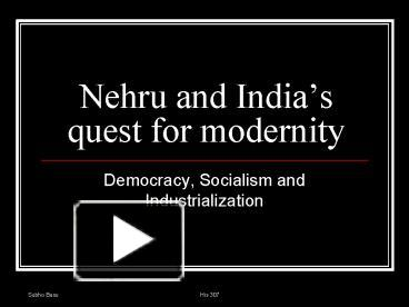 the quest by nehru