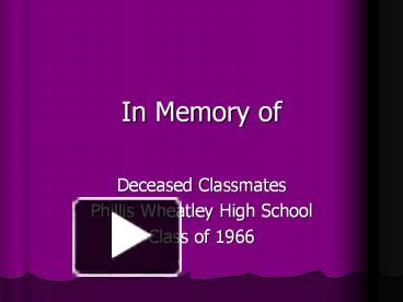 ppt in memory of powerpoint presentation free to download id
