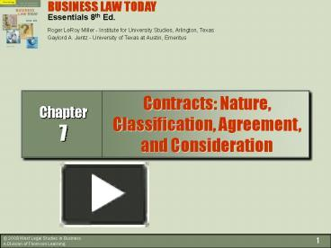 essentials of consideration in business law