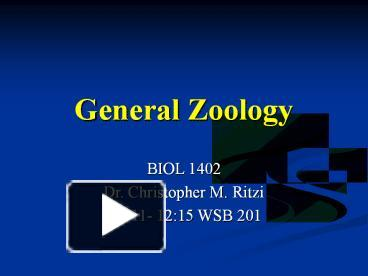 Ppt general zoology powerpoint presentation free to download ppt general zoology powerpoint presentation free to download id 14e676 mmfmm toneelgroepblik Image collections