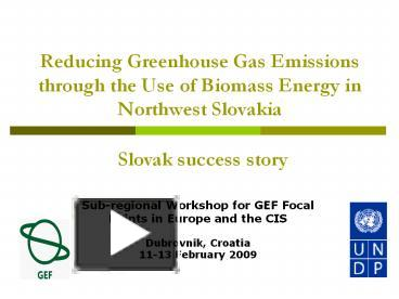 PPT – Reducing Greenhouse Gas Emissions through the Use of
