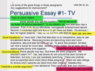 persuasive essay on movies