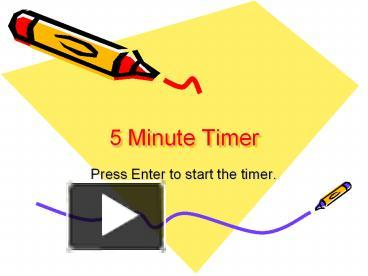 5 minute powerpoint timer