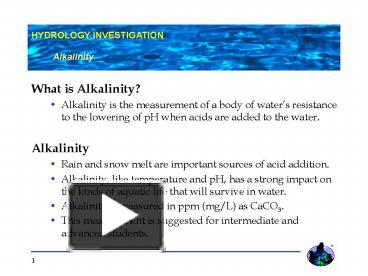 PPT – What is Alkalinity PowerPoint presentation | free to