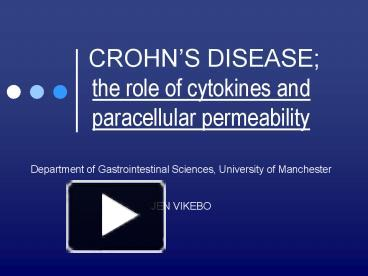 chrones disease essay