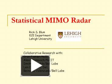 PPT – Statistical MIMO Radar PowerPoint presentation   free