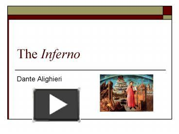 inferno dante alighieri and rival political