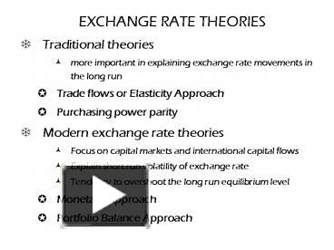 PPT – EXCHANGE RATE THEORIES PowerPoint presentation | free to view
