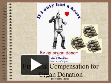 organ donor compensation