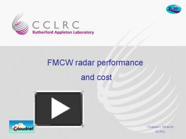 PPT – FMCW radar performance PowerPoint presentation | free to