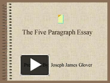 3 types 5 paragraph essays How to teach the five paragraph essay is a step-by-step plan for the five paragraph essay writing essays in all domains of writing is amazingly simple.