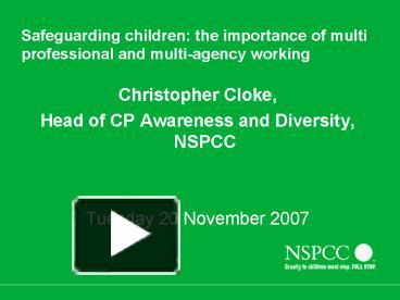 the importance of multi agency working essay Multi-agency working: key practice points national strategies such as personalisation aim to strengthen the links across and between health and social care, children's and adults' services.