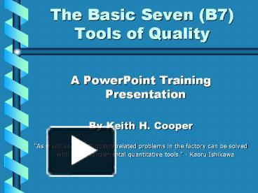 ppt the basic seven b7 tools of quality powerpoint presentation