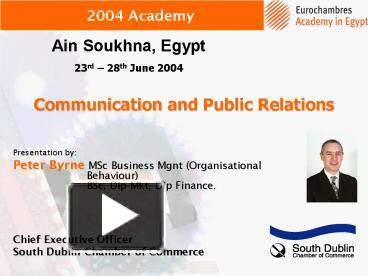 communication and public relation on business