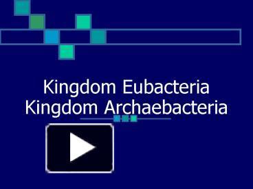 Kingdom archaebacteria.